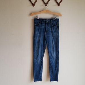 Lucky Brand 4 Bridgette Skinny Raw Cropped Jeans